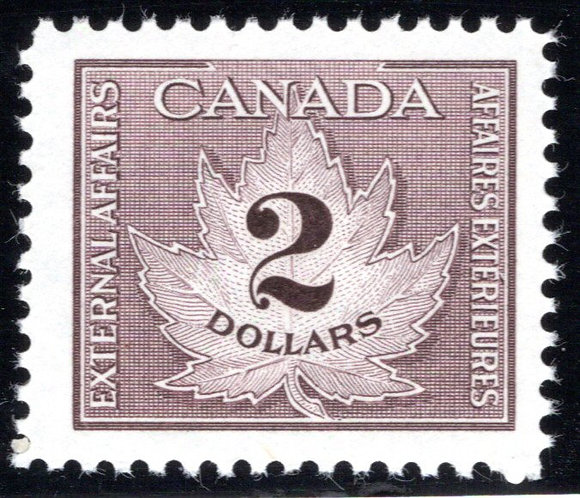 van Dam FCF4, $2, brown, Consular, Fee Stamp, MNHOG,c/v $71.50 CDN, 2017