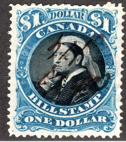 FB52, $1, Used, VF/XF, p. 11.7x12, Victoria well centered, Third Bill Issue