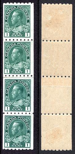 "123iGeorge V ""Admiral"", Paste-up Pair, MNHOG on pair, adjacent stamps are hinge"