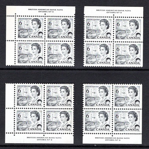 460 Scott, Matched Plate Block Set, Plate 3, Die I, DF, DEX, MNHOG, VF, Centenn