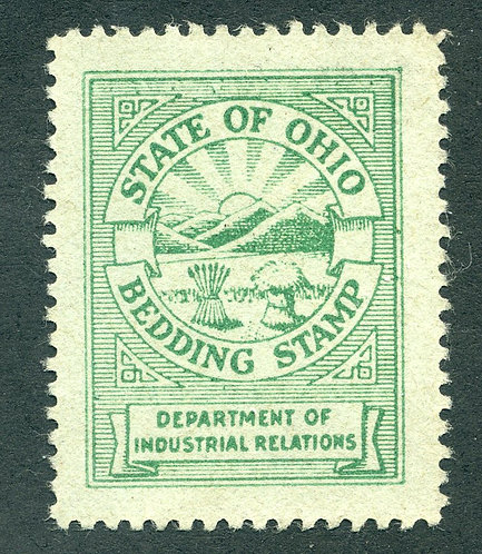 OH BD1 Used - Bedding Stamp - State of Ohio - Department of Industrial Relations