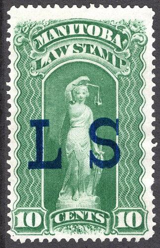 van Dam ML7-10c - VF/EF, Unused- No Gum - Manitoba Law 1877