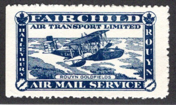 CL11, Canada, 25c, Fairchild Air Transport Ltd., 1926, MHOG, Private Commercial