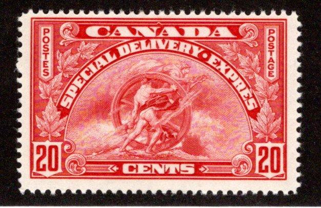 E6 - 20c -Special Delivery - F - MLHOG - Canada BOB Stamp