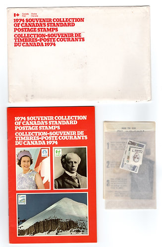 1974, Thematic Collection #17, 1974 Stamp Souvenir Collection, c/v 2018 is $250.