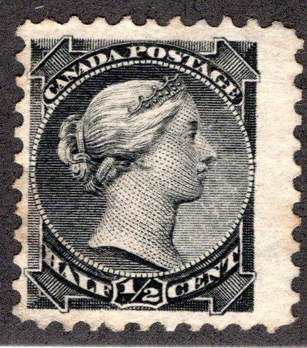 34, Scott, 1/2c, Small Queen Issue, MNG, F, 1882, Canada Postage Stamp