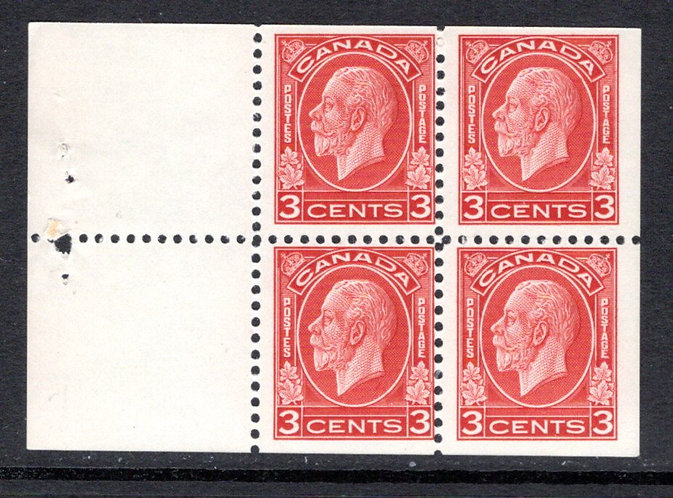 "197d, Scott, 3c, MNHOG, F, ""Medallion""197 issue, booklet pane of 4 x 3c (Bkl 22)"