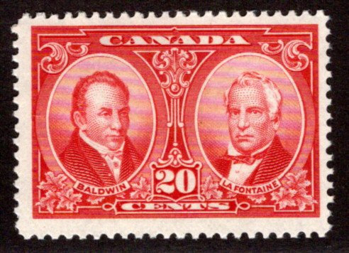 Scott 148, Canada, 20c, VG/F, MNHOG, Baldwin and Lafontaine, Postage Stamps