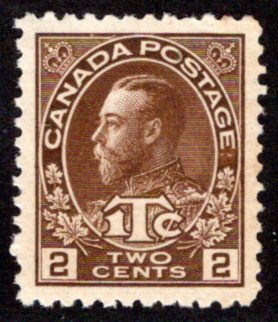 MR4, Canada, War Tax, XF/SUPERB - 94, Very lightly hinged, OG, 2c + 1c, brown