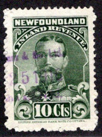 R17, NSSC, Newfoundland, Canada, p.12 - Used - 1910 George V - 10c green