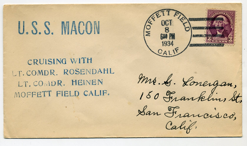 USS MACON Cover, Cruising With Lt. Comdr. Rosendahl / Lt. Comdr. Heinen - 10/8/1