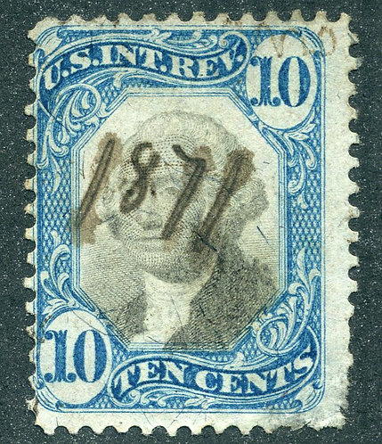 R109 - 10c - Blue and Black - US Second Issue Revenue