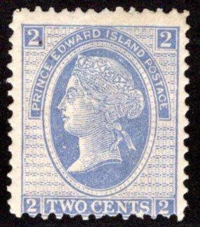 Scott 12, PEI, Prince Edward Island, Canada, VG/F, p.12.25, MHOG, QV, 1872