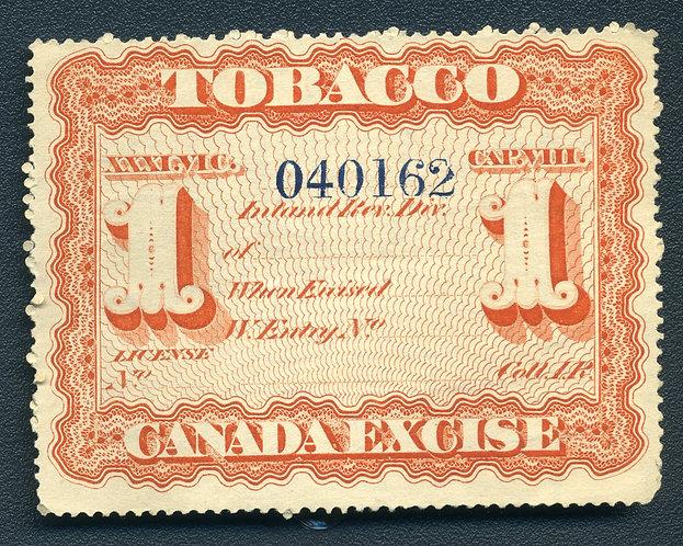 Ryan RM36a - 1869Manufactured Tobacco - 1 pound - Block W/M - Wove Paper