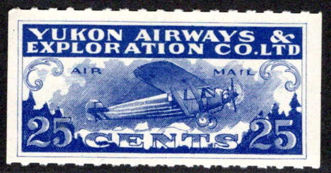 CL42, Canada, 25c, Yukon Airways and Exploration Co. Ltd., MHOG, 1927, Private C