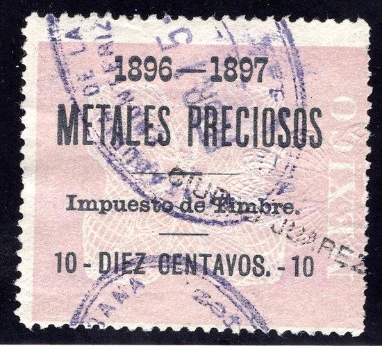 MP 5, Mexico, 10c, 1896-1897, Precious Metals / Metales Preciosos