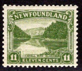 132, NSSC, Newfoundland, 11¢ Shell Bird Island, MNHOG, F/VF,Scott 140