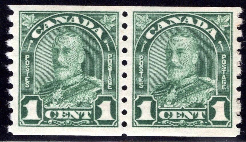 """179 King George V """"Arch/Leaf"""", Paste-up Pair, MNHOG, VF"""