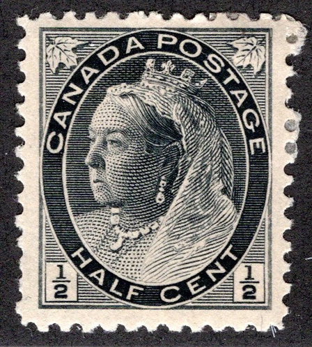 """74, 1/2c Queen Victoria """"Numeral"""" Issue, MLHOG, F/VF, Canada Postage Stamp"""