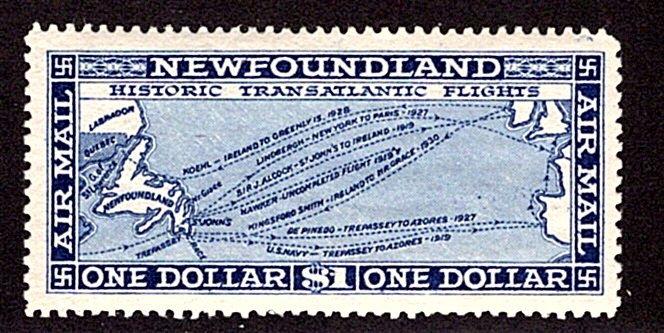 AM9a, NSSC, Newfoundland, 1931, $1, Air Mail, XF, p14.3x13.8, MNHOG