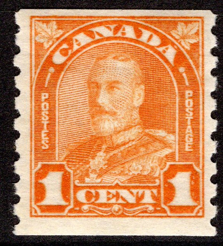 "178 Scott - 1c orange, VF, MNHOG, 1930, ""King George Arch/Leaf Issue"", Coil"