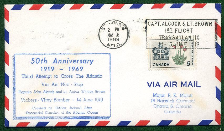 Third Flight Attempt to cross Atlantic - 50th Anniversary