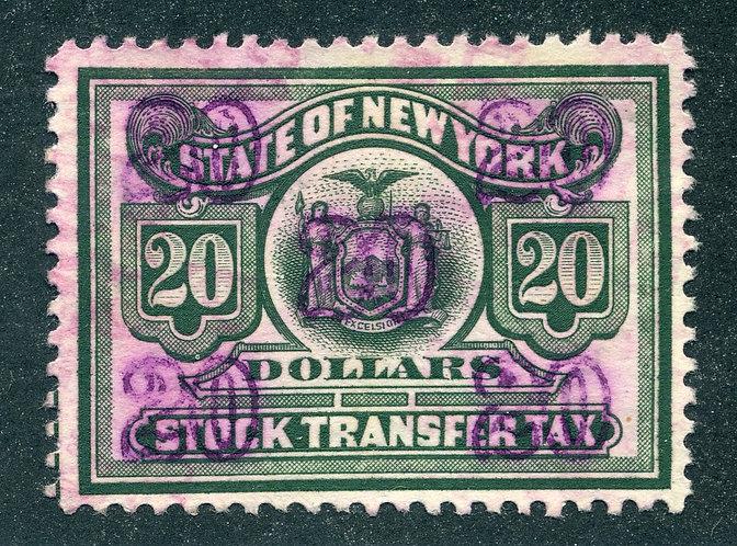 NY ST91- New York Stock Transfer - $20 - Used