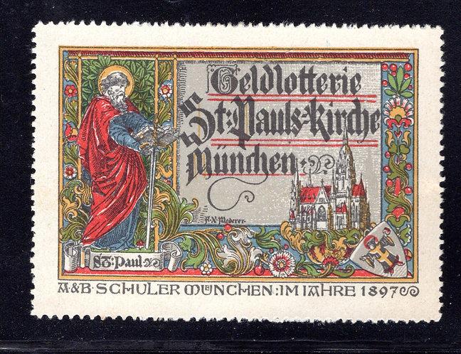 St. Paul's Church - Munchen - 1897 - Cinderella/Poster - MLHOG
