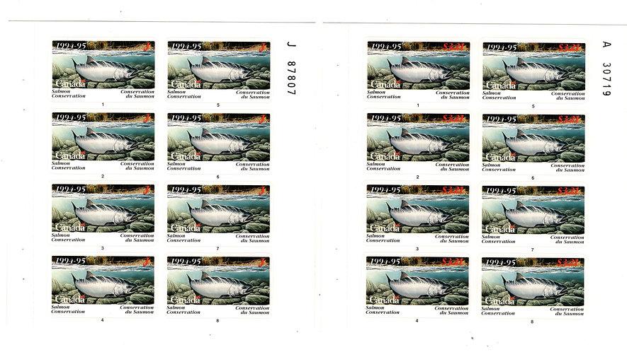 BCF6p van Dam, Canada, 1994-1995, Complete Set of 2 Panes of 8
