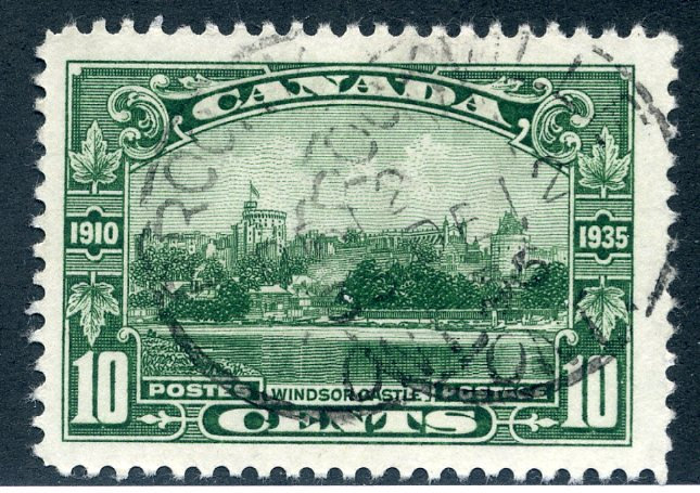 215 Scott - 10c - Used - Windsor Castle - CDS Brockville, Dec 12, 35