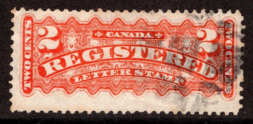 F1d, 2c, Registration Stamp, Canada, p12 x 11.5, F, Used