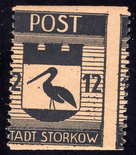 Germany, Local,Stadt Storkow, 1946 MNH, misperf error