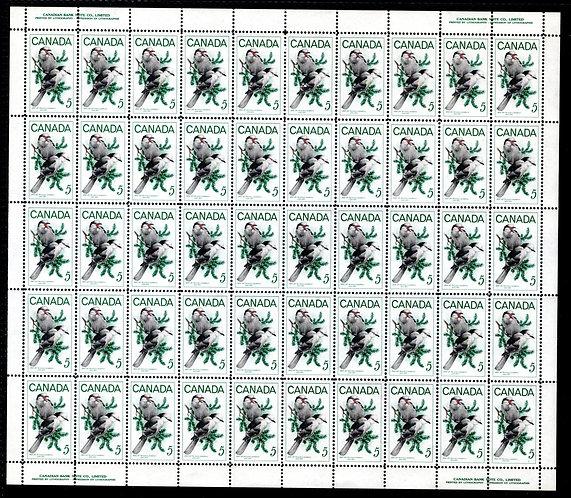 478, Scott, 5c lilac, Gray Jays, Full Sheet of 100, MNHOG, Bottle Gentian Flower