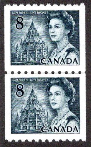 550i, Scott, Canada, MNHOG, Centennial Definitive, 8c, Coil Pair, MNHOG, DF, P