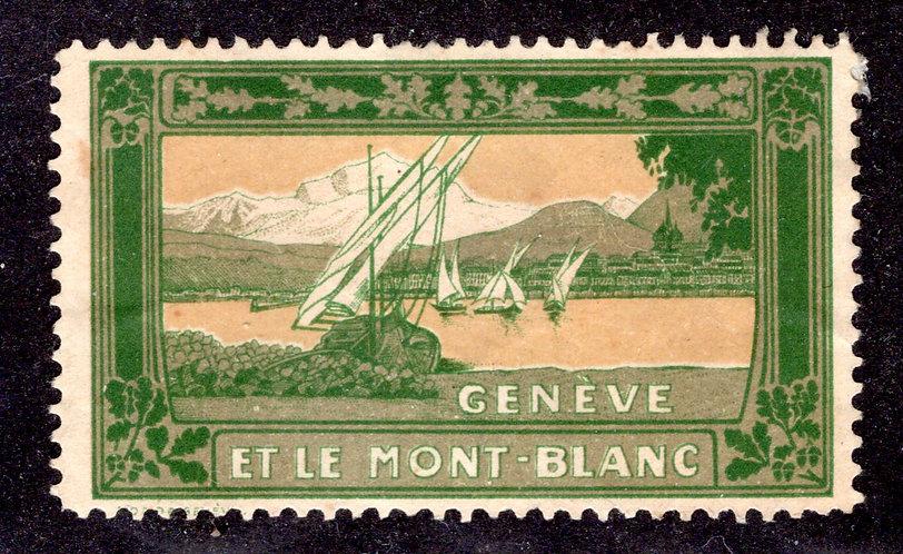 Geneva, Switzerland and Mont Blanc - Used