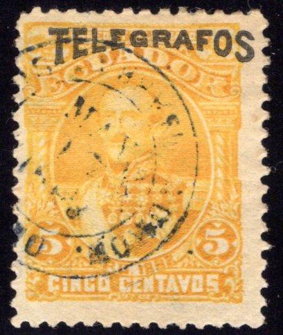 Ecuador RH3, H3, Types 1,2, Used Telegraph / Telegrafos