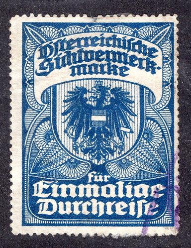 Austria 1924 Long-term Visa Revenue - Used - perf 12.5