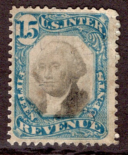 R110- 15c - Blue and Black - US Second IssueRevenue