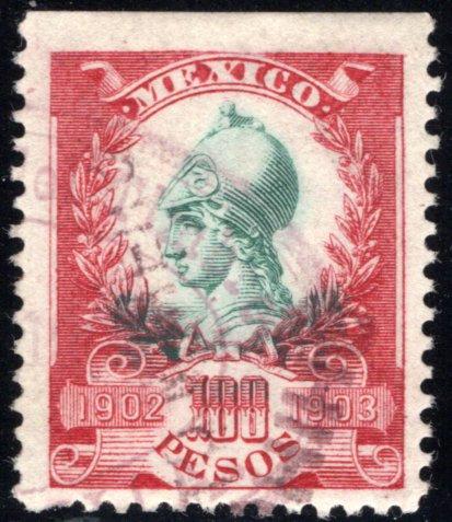 R 223B, Mexico, 100P, 1902-1903,Warrior Goddess, VF