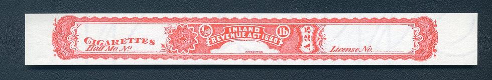 Ryan RC33u - 1881 Cigarette Stamp / Strip- Not More Than 1/20th pound
