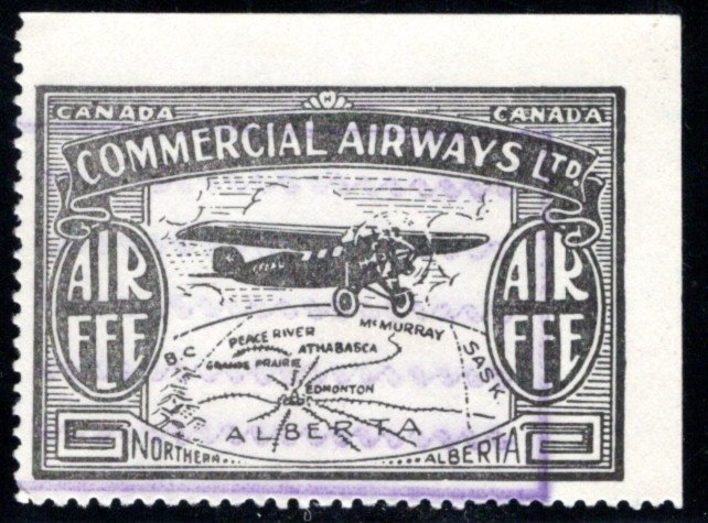 CL48, Canada, 10c, Commercial Airways Ltd., Used, lightly canceled