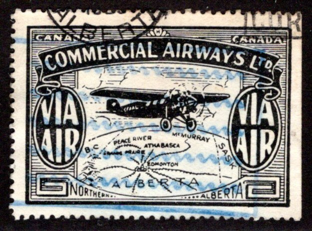 CL47, Canada, 10c, Commercial Airways Ltd., Used, VF/XF, Private Commercial Air