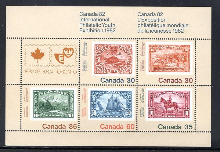 913a Scott - Souvenir Sheet, Canada 82, #909-913, MNHOG, Canada Postage Stamps