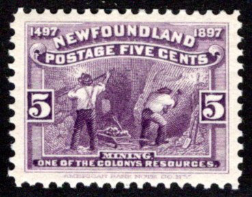 56, NSSC, Newfoundland, Canada, 5c, VF/XF,MLHOG, Mining, Scott 65