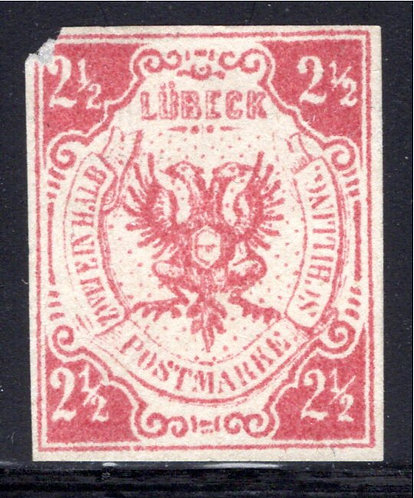 Scott #4, 2½ schilling, Lubeck, German State, Forgery, MNG
