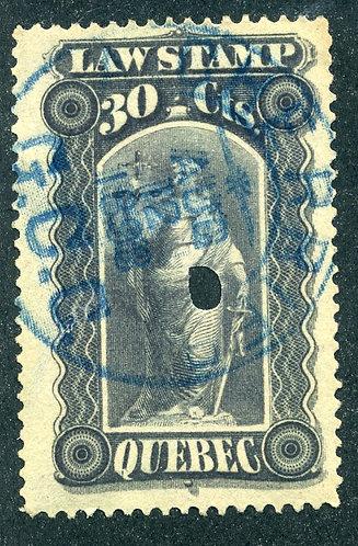 van Dam QL34 - 80c gray violet - Used - Quebec Law Stamp 1893-1906