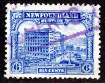 167, NSSC, Newfoundland, Canada, 6c, Used, F, Pictorial Issue 3, Hotel, Scott 17