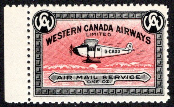 CL40, Canada, 10c, Western Canada Airways Ltd., MNHOG, 1927, Private Commercial