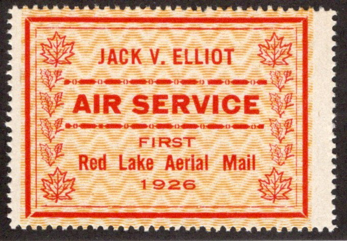 CL6d, Canada, 25c, Jack V. Elliot Air Service, MNHOG, 1926, red on yellow