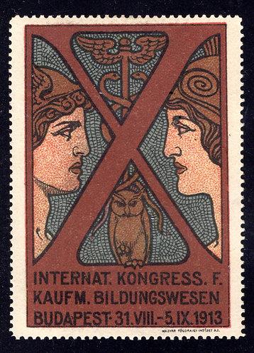 1913 International Education Congress - German - Large format poster stamp